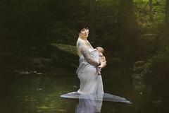 DSC_0694wm (kristinamandamurphy) Tags: breastfeeding nursing outdoor mother motherhood mom baby infant water creek beautiful painting sheet love mommy son creation birth