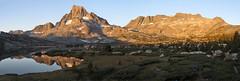 Morning Light on Banner Peak and Mt. Davis (Mike Dole) Tags: thousandislandlake bannerpeak mtdavis johnmuirtrail anseladamswilderness inyonationalforest california sierranevada