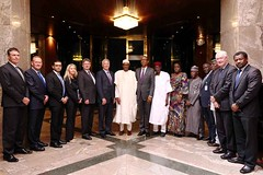President Buhari with African Association of Automotive Manufacturers