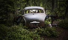 As Time Goes By (explored) (DerWalli) Tags: autofriedhof car cementry abandoned auto rost wald grn moos moor smaland ryd schweden kronobergsln bilkyrkogarden kyrk mosse verlassen einsam zeit vergnglich explore explored