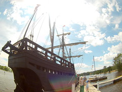 (theleakybrain) Tags: mokacam mokacam4k 20160716134650 columbus ships hudson wisconsin nina pinta tall wideangle actioncam indegogo