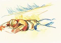 PROYECTO 132-48 (GARGABLE) Tags: angelbeltrn apuntes sketch lpicesdecolores drawings proyecto 132 64 todo varios variado dibujos gargable playa gente siesta sanjuan