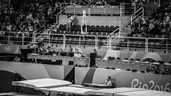 Missil / Missile (Pablo Grilo) Tags: rio2016 rio2016olympics gymnastic ginasticaolimpica ginasticaartistica ginasticadegala blackandwhite blackandwhitephoto blackandwhitephotography bwphoto bwphotography bw pb noir fotografiaempb fotografiaempretoebranco fotografiapb