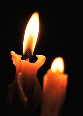 candlelit evening (flowergirlaaa) Tags: candle light flame beeswax ethereal wick burning orange wax nighttime evening