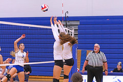 IMG_5439 (SJH Foto) Tags: girls volleyball high school lancaster mennonite pa pennsylvania team tween teen teenager varsity net battle spike block action shot jump midair burst mode