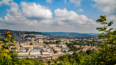 Bath - From Jacob's Ladder (Peter Leigh50) Tags: bath spa station abbey high speed train first great western railway gwr panorama