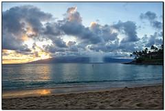 DSC05862-a (tellytomtelly) Tags: maui napilibay napili hawaii sunset clouds sup reflection