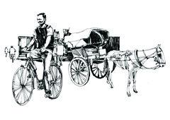The cycle and horse (Thisisanwar) Tags: anwar artist cartoonist illustrator india hyderabad nandyal noonepalli telugucartoonist teluguillustrator telugubomma bapu bali chandra gopi mohan sketchingartist linedrawing sketchbook howtodraw