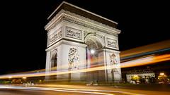 Speed of light! (SamTheBeardedGuy) Tags: longexposure paris parisbynight arcdetriomphe night city monument perspective architecture