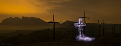 Resuscitation in the Forest of Crosses (MrDaVidU) Tags: bosquedelascruces bosquequemado cruces marganell montserrat resucitacion resucitar samyang samyang14mm nikon nikond3100 d3100