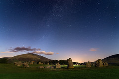 Castlerigg Stone Circle (Claire Willans) Tags: clouds old england shadows ancient heritage lakedistrict cumbria keswick fells religion dark stones castleriggstonecircle stonecircle castlerigg druid night stars starscape astrophotography milkyway magical ceremony