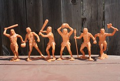 "6"" Cavemen (Marx 1963) (Donald Deveau) Tags: caveman marx toys vintagetoy prehistoric"
