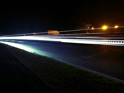 light trails white