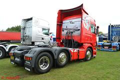 Scania R420 'Mark Thorpe Haulage' reg NJ58 HJE rear view (erfmike51) Tags: scaniar420 artic truck lorry markthorpehaulage swedefest2016