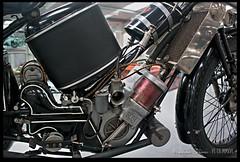 Scott Squirrel (zweiblumen) Tags: scottsquirrel 1924 vintage classic motorcycle engine motormuseum jurby jourbee isleofman ellanvannin hdr canoneos50d polariser zweiblumen photoshopcs4