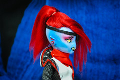 Undyne - Custom MH Doll (studio.look) Tags: blue monster high custom doll ooak repaint undyne undertale viscose wig cam sea