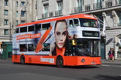 LT 467 (LTZ 1467) Arriva London New Routemaster (hotspur_star) Tags: londontransport londonbuses londonbus londonbuses2016 wrightbus borisbus borismaster newbusforlondon newroutemaster nb4l hybridbus hybridtechnology busscene2016 doubledeck arrivalondon lt467 ltz1467 73 alloveradvert advertlivery advertisinglivery advertbus rimmel