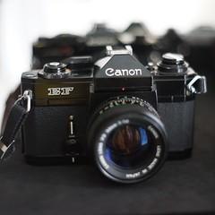 Black Beauty: Canon EF - favorite SLR (IamWadidiz) Tags: canonefslr canonefcamera canonfd canon slr vintagecanon vintageslr cameraporn canonefbody