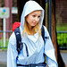 Girl Wearing Raincoat in Ueno Zoo : カッパを着る少女(上野動物園)