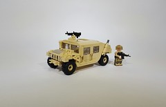 Humvee (Project Azazel) Tags: pa humvee projectazazel custom military legocustom legohumvee vehicle modernmilitary legomilitarymodels legomilitary ba brickarms cb citizenbrick