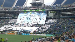 We are the watchers on the Wall! (SEdmison) Tags: seattlesoundersfc seattlesounders football soccer seattle nightswatch