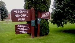 Park Sign (Maenette1) Tags: sign veteransmemorialpark signsunday menominee uppermichigan flicker365