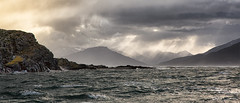 Storm over Beagle Channel (cheryl strahl) Tags: southamerica argentina patagonia ushuaia tierradelfuego beaglechannel weather channel darwin fitzroy roughseas windy clouds rays