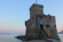 Rapallo - Castello sul Mare - Italy (Stefano Stabile) Tags: italia italy italie europa europe mare sea liguria castello rocca castle rapallo tramonto