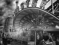 Street photo in the amusement park (helenespjuth) Tags: gatufoto streetphotography stockholm monokromt svartvitt grnalund