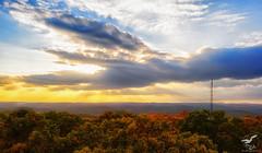 Autumn Sunset On Ninham Mountain (REA // Photography) Tags: autumn fall foliage lowerhudsonvalley ny newyorkstate ninhamfiretower ninhammountain raysofsun sky skyscape sun sunbeams sunset