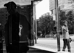 (daveson47) Tags: mono reflection window bw ricohgrd grd ricoh street streetphoto streetphotography