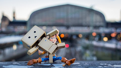 Dancing in the Morning (Reiterlied) Tags: 18 35mm centralstation d5200 dslr danbo germany hamburg lens nikon photography prime reiterlied sipgoeshamburg2016 stuckinplastic sunrise toy toystory woody