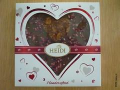 Heidi Milk Gourmet Heart (zazou.ciocolata) Tags: heidi romania milkchocolate whitechocolate chocolatefigure valentinesday 2529cocoa 3034cocoa raspberry fruit almond nut cranberry caramelizednut