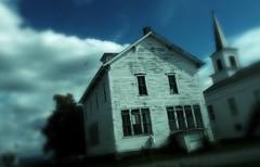 I Dreaded Walking Toward The House (MPnormaleye) Tags: utata stormy overcast house steeple barn newengland strange iphone surreal unreal dream nightmare vision dreamy creepy