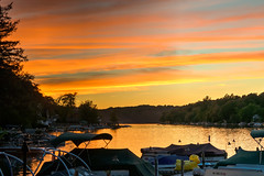Just What We Ordered! (tquist24) Tags: hdr lakeharmony nickslakehouse nikon nikond5300 outdoor pennsylvania clouds evening geotagged golden honeymoon ight lake orange reflection reflections restaurant sky sunset tree trees water