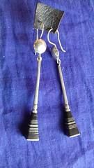 IMG_0463 (Tuareg Jewelry) Tags: tuareg jewelry finesilver ebony earrings bouclesdoreilles tuaregjewelry tuaregjewellery