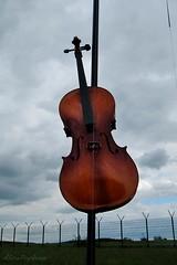 Wie Musik Grenzen uberwindet (AlicePopkorn) Tags: cello musikinstrument grenzen zaun musik