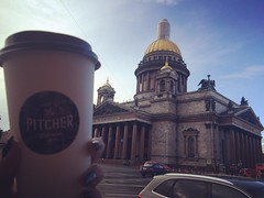 #saintpetersburg #autumn #day #coffee #pitchercoffee #saintisaacscathedral #cathedral #architecture #doms #sky #wonderful #view #citysightseeing #travelling (anastasiaborzova) Tags: saintpetersburg autumn day coffee pitchercoffee saintisaacscathedral cathedral architecture doms sky wonderful view citysightseeing travelling