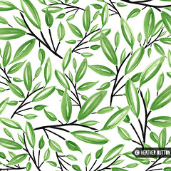 Zen Forest (hangtightstudio) Tags: watercolor design designer surfacedesign surfacepattern patterndesign textiledesign fabricdesign nature leaves green heatherdutton hangtightstudio create dowhatyoulove