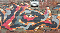 Eye (Digger Barnes) Tags: graffiti ndsm amsterdam red black