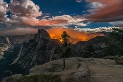 Glacier Point Yosemite Fire () Tags: wallpapers halfdome fire yosemite little nationalpark flames wildfire fullmoon glacierpoint forestfire mist johnmuir panorama trails burned monolith granite vista moonlight darv darvin atkeson lynneal yosemitelandscapescom
