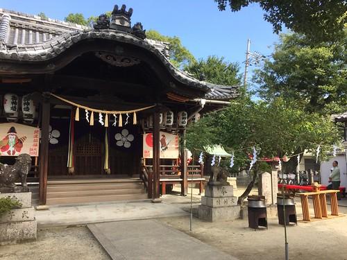 大利神社秋祭り準備