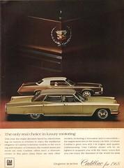 1968 Cadillac Fleetwood Brougham and Eldorado Advertisement Time Magazine December 8 1967 (SenseiAlan) Tags: 1968 cadillac fleetwood brougham eldorado advertisement time magazine december 8 1967