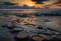 Swirly Bubbles (Eric Gail: AdventuresInFineArtPhotography) Tags: lajolla sandiego sunset potholes reflection canon 70d