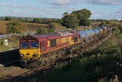 66050 18-10-16 (IanL2) Tags: dbschenker class66 66050 ewsenergy wellingborough northamptonshire rhtt railways trains