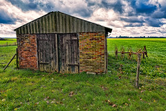You Better Hide (Alfred Grupstra Photography (bussy until 30 octobe) Tags: clouds landscape meadow shed deweere noordholland nederland nl
