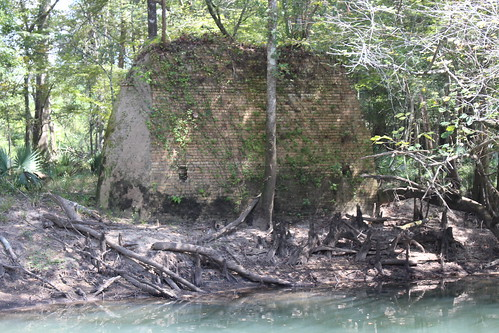 Remains of old Florida State Road 10 Chipola River bridge, Marianna