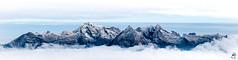 Sntis Panoramic (medXtreme) Tags: alpen alps alpsteinmassiv appenzelleralpen berg berge bewlkt churfirsten chserrugg2262m clouds cloudy gebirge gebirgszug massiv mountain mountainrange mountains overcast panoramaaufnahme panoramicshot schnee snow sntis2453m wolken wolkenmeer seaofclouds