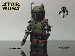 Lego Custom Boba Fett (~GIOVANNI~) Tags: boba fett custom sculpted minifigure banana shoulder pads jet pack mandalorian lego star wars