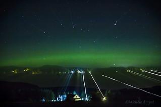 Aurores boréales / Aurora borealis - Zoom out